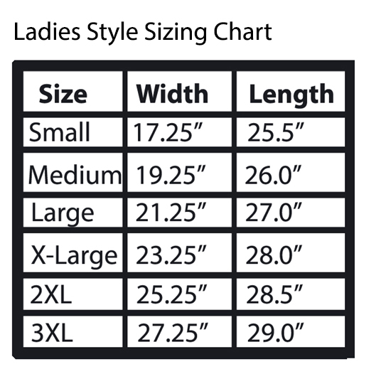 T Shirt Sizing Chart Art By Fox Online Store Powered By Storenvy